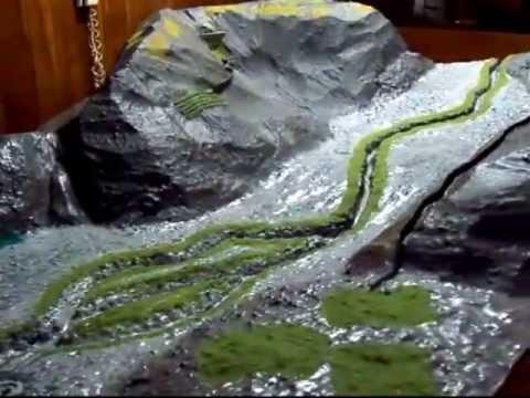 Maqueta de sistemas hidráulicos del antiguo Perú